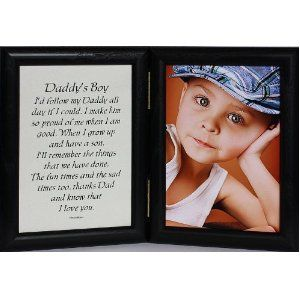 Hinged Daddy S Boy Picture Poem Photo Frame A Wonderful Gift Idea For New Father Day Valentines Birthday Or Christmas
