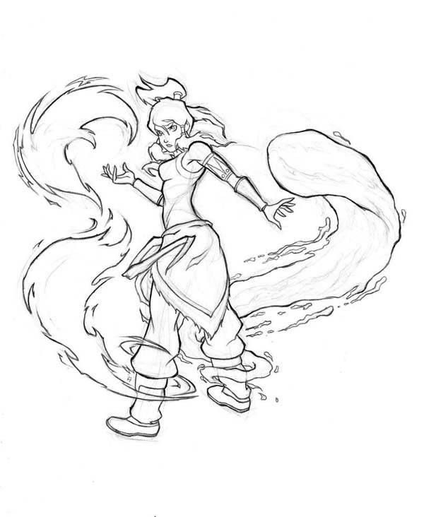 The Legend of Korra Coloring Pages 18 - Download   Pictures ...