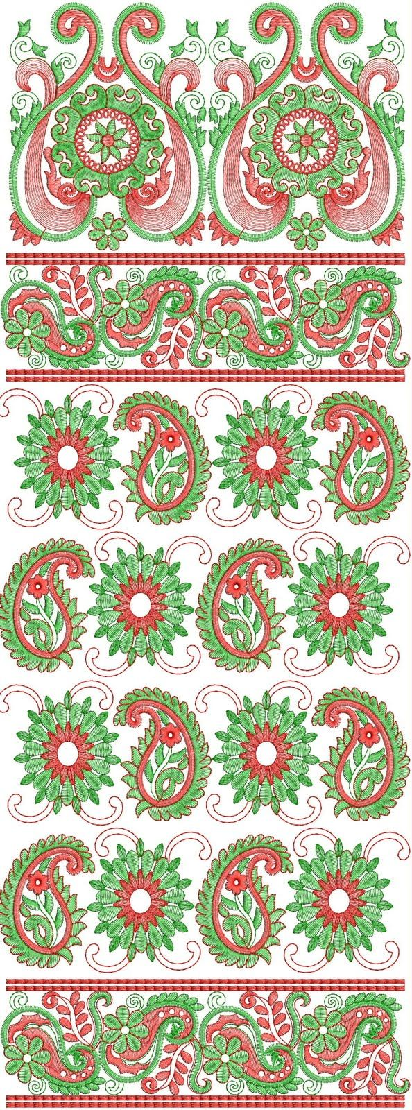 South indian saree embroidery design free download from