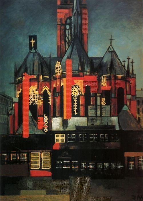 Jeanne Mammen Kirche Auf Dem Winterfeldtplatz 1945 Berlin Spree Berlin Museum Kirchen