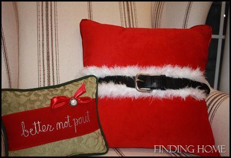 Ho, Ho, Ho, A Santa Pillow - Finding Home