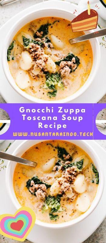 Gnocchi Zuppa Toscana Soup Recipe #zuppatoscanasoup