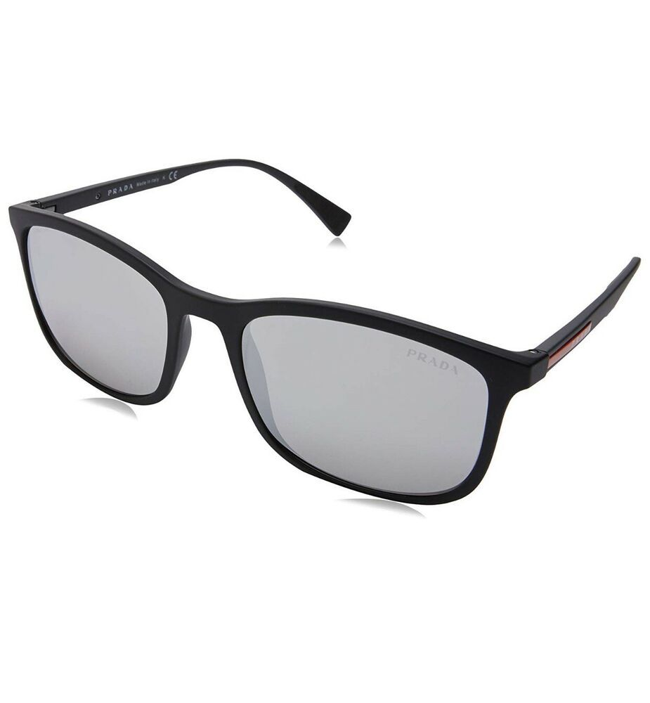 b7f378186a540 eBay  Sponsored New Prada Linea Rossa Sunglasses PS 01TS DG0 0A7 Black  Rubber Gray Gradient Men