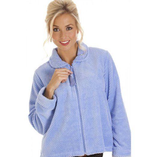 Amazon Com Camille Womens Ladies Blue Zip Front Soft Fleece