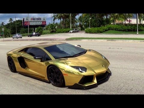 First Gold Plated Lamborghini Aventador LP700,4 Better only