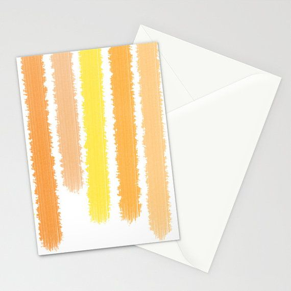 Folded Cards  Note Cards  Orange Striped   by ShelleysCrochetOle, $22.00