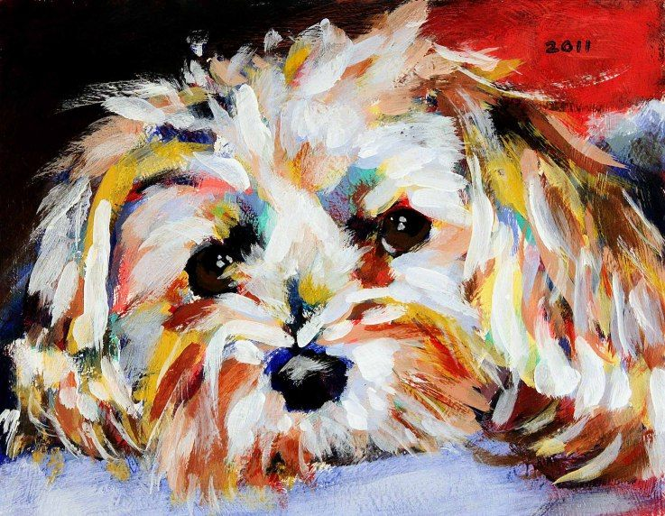 Dog paintings by famous artists private collection for Dog painting artist