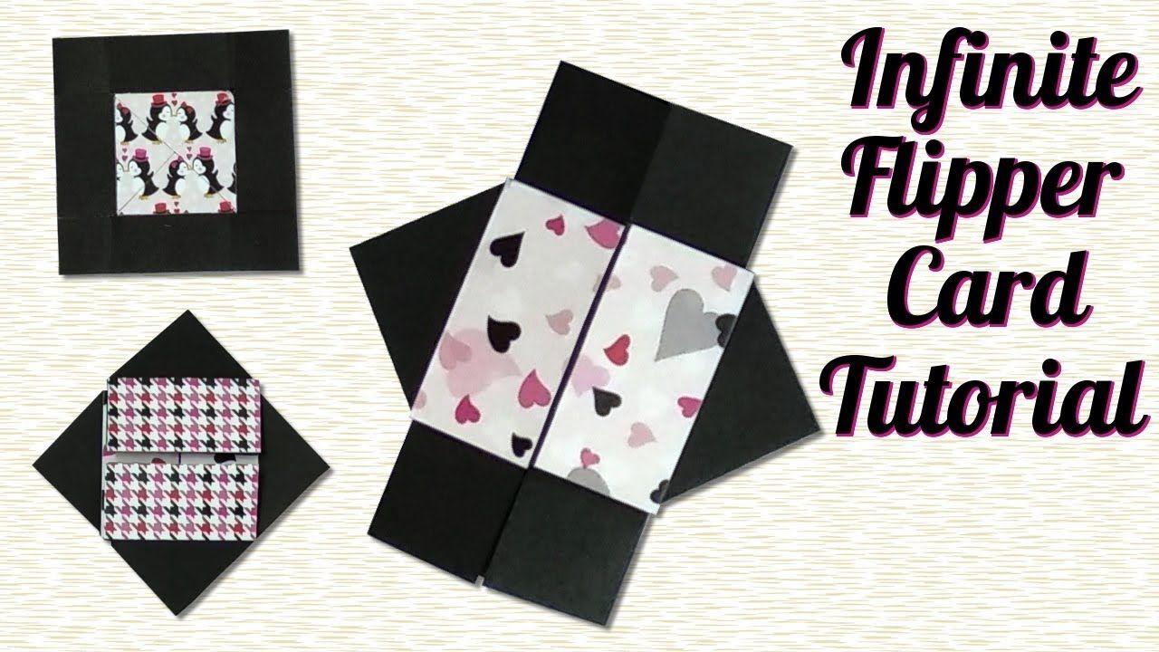 infinite flipper card tutorial  never ending card from