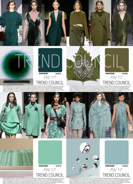 F W 2017 18 Women S Fashion Colors Trends