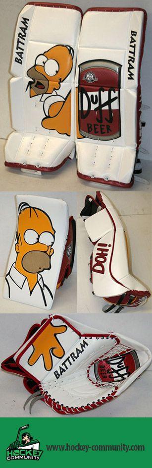 Homer Simpson Hockey Goalie gear
