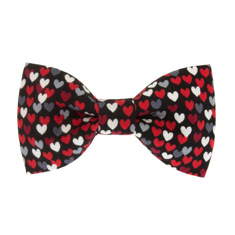 Valentines Day Tiny Hearts Dog Bow Tie