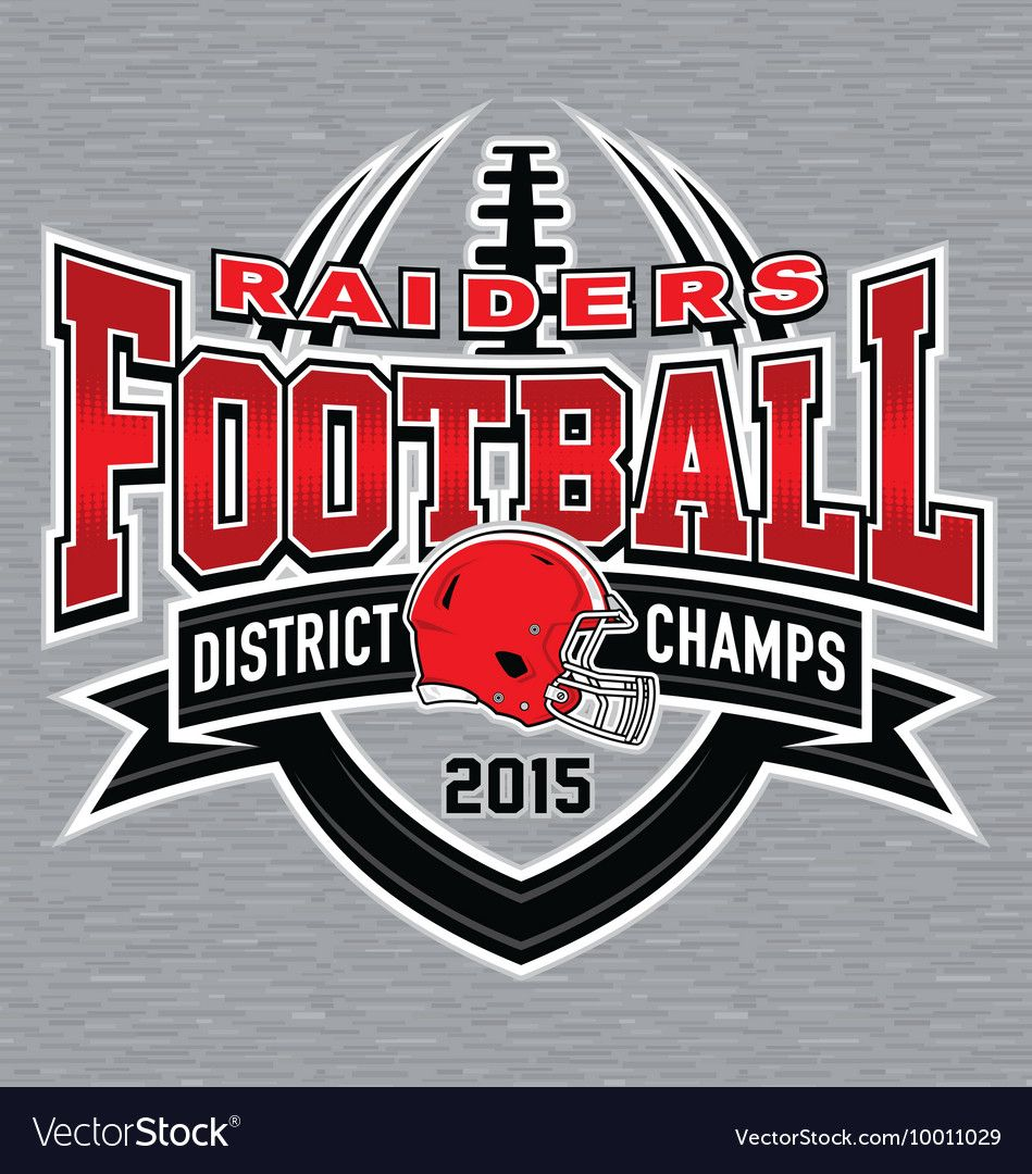 District champs football tshirt graphic vector image on