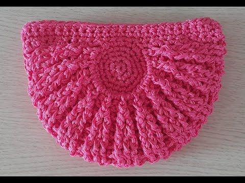 손뜨개 망태기 숄더백 - crochet square motif bag - YouTube 가방