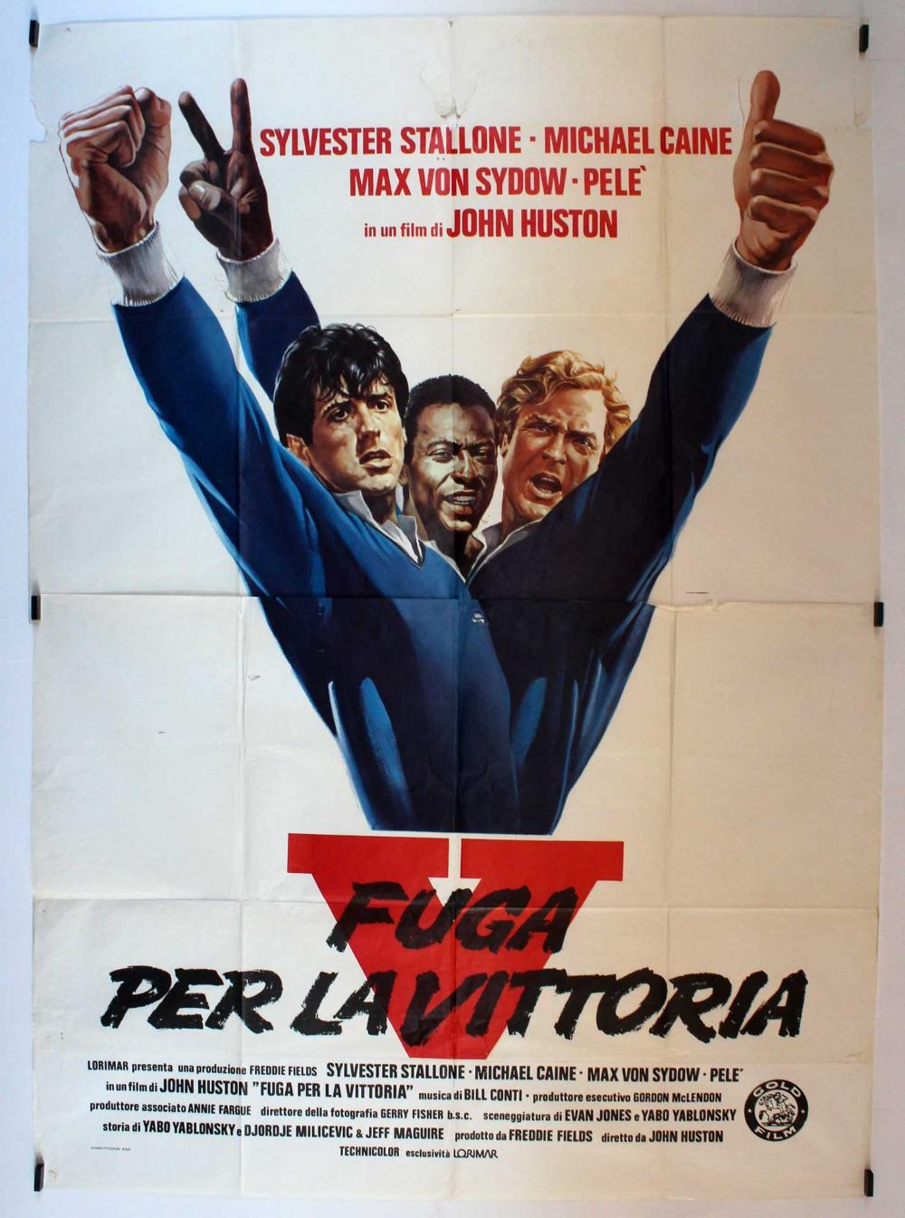 V Fuga Per La Vittoria Sylvester Stallone Stallone Carteles De Cine