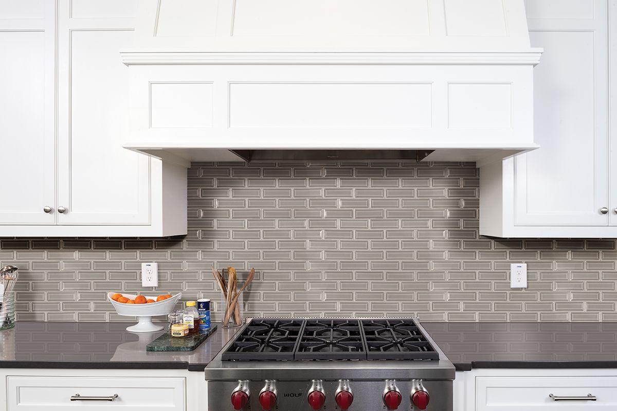 - Dove Gray 2x6 Beveled Kitchen Backsplash Tile Designs, Marble