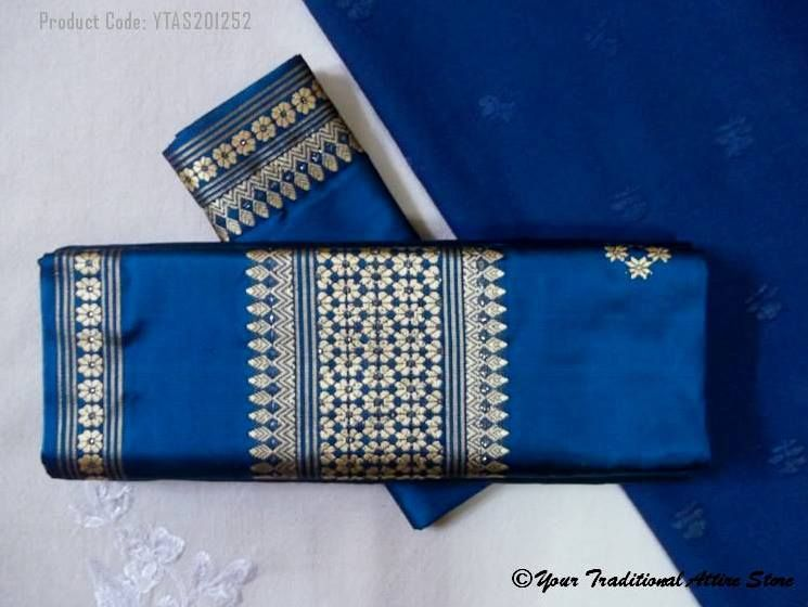 Known as the dhara or nara. The traditional dress of Khasi women in Shillong, situated in the North Eastern part of India. The dress is worn only during occasions or grand ceremonies like weddings. For daily use the Khasi women wear Jainsem.