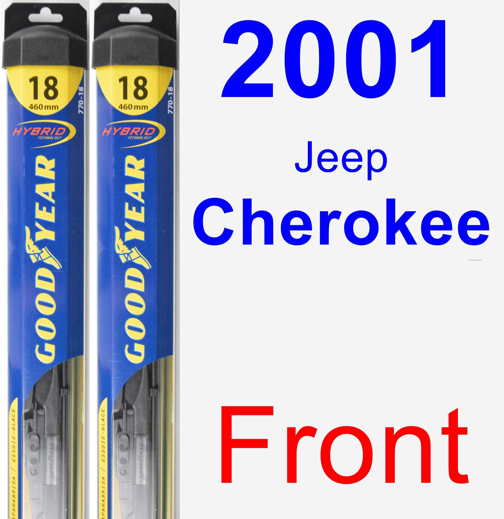 Front Wiper Blade Pack for 2001 Jeep Cherokee - Hybrid