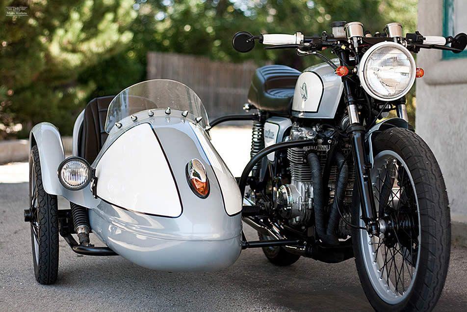 #Honda CB550 with Sidecar | Analog #Motorcycles