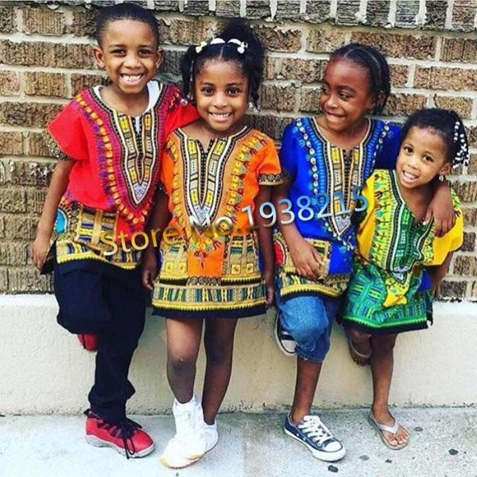 Child New Fashion Design Traditional African Clothing Print Dashiki
