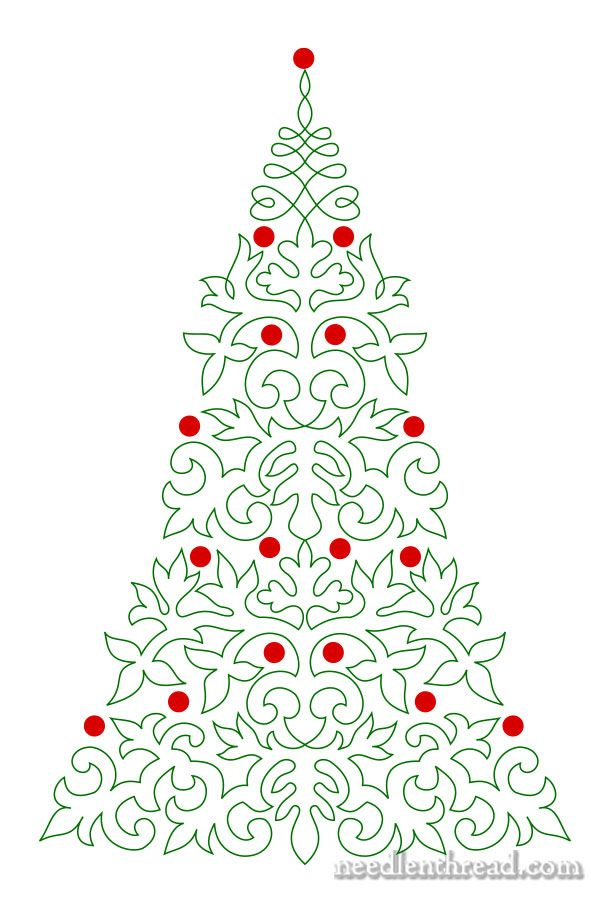 Embroider A Christmas Tree Christmas Stencils Embroidery Designs Christmas Embroidery