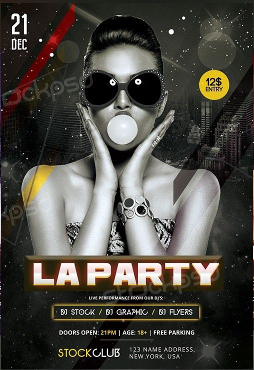 La Party Download Free Psd Flyer Template Free Psd Flyer