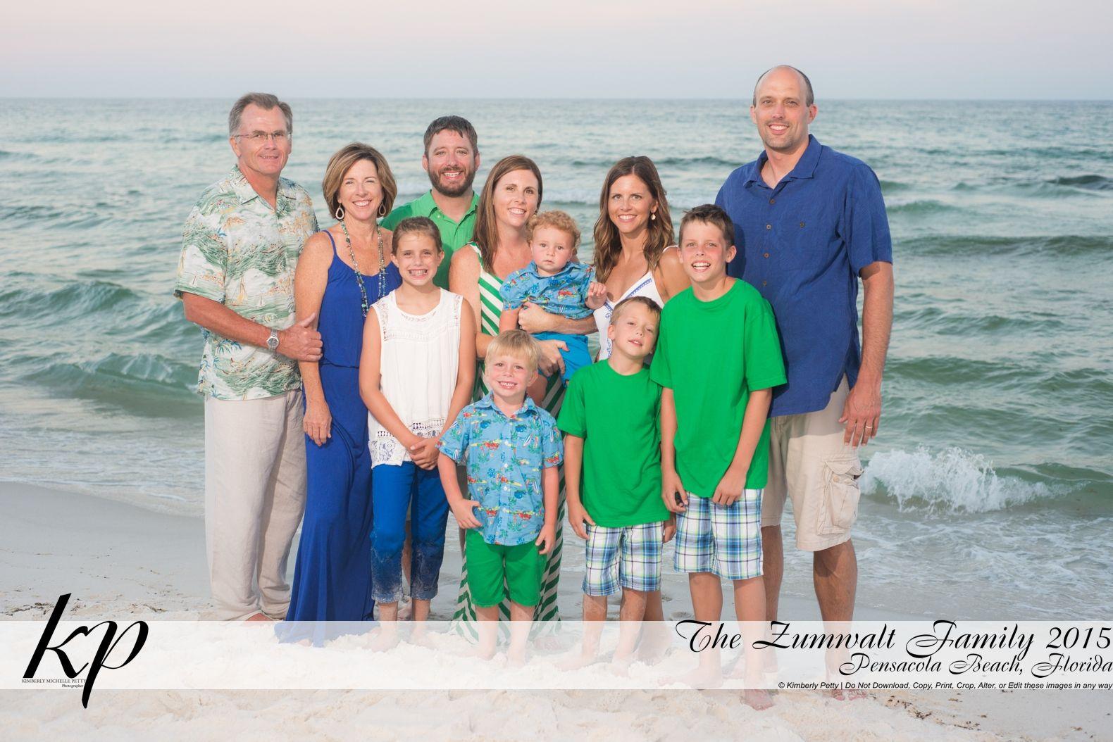 Pensacola Beach Photographer Family Portraits Kimberly Petty Photography I Love The Bright Colors