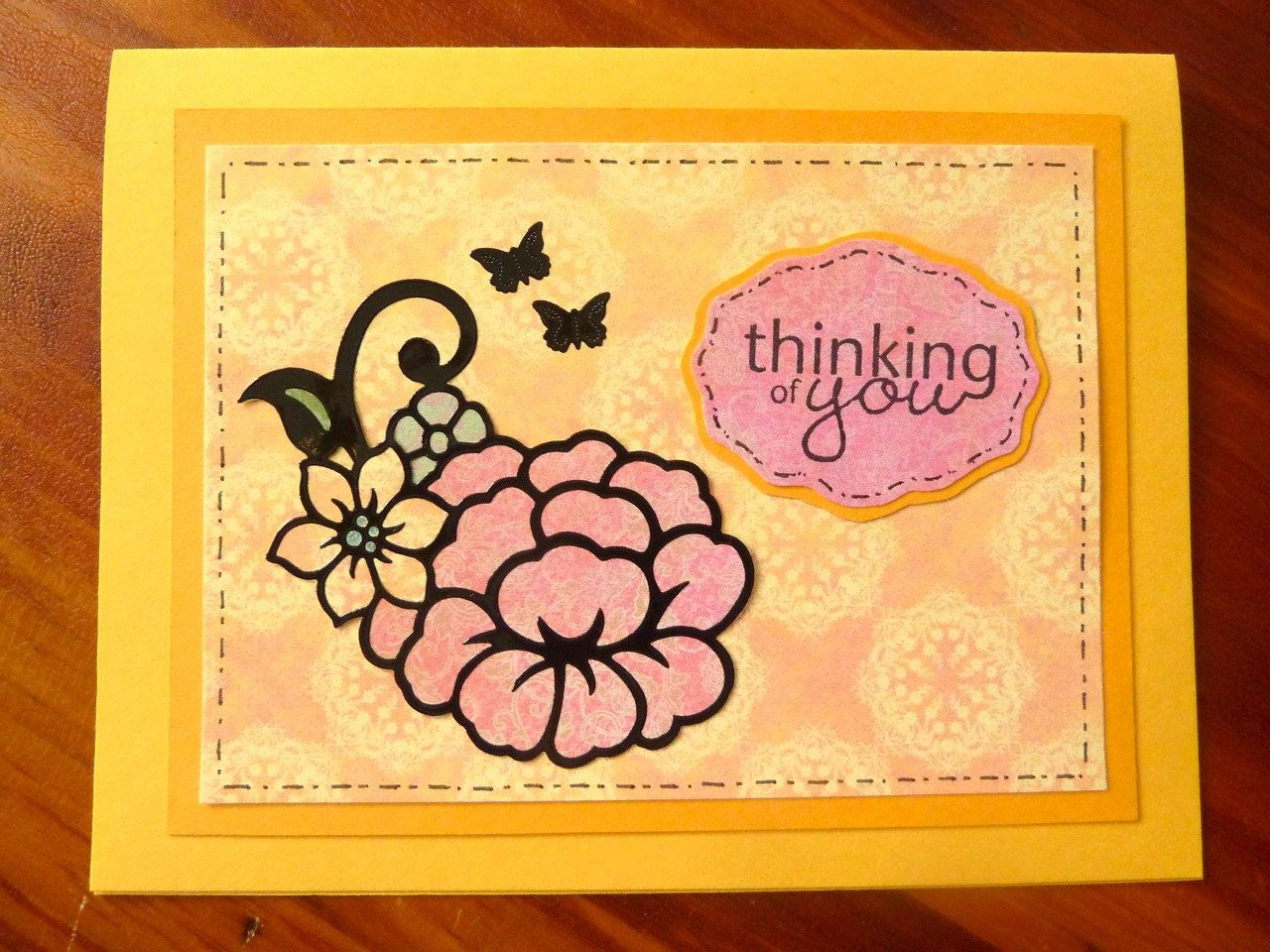 Thinking Of You Card Handmade Thinking Of You Card Floral Get Well