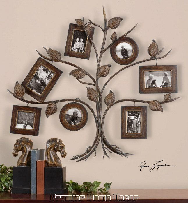 Old World Tuscan Family Tree Wall Photo Frame Collage