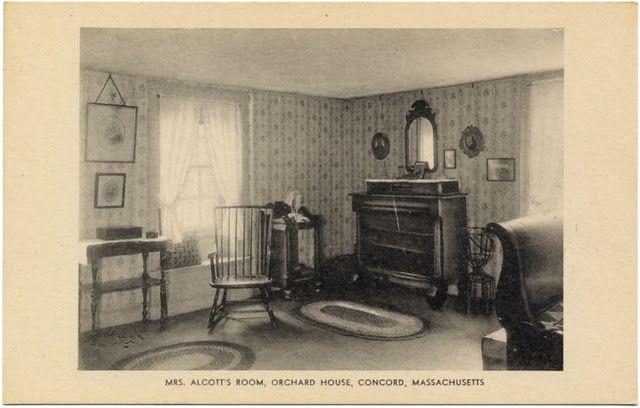 Mrs Alcott S Room Orchard House House Inside Louisa May
