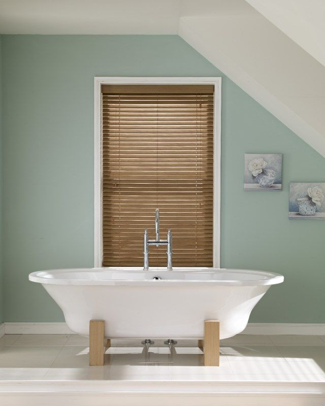 Oakwood Wooden Venetian Blind Bathroom See Our Range Of Wooden