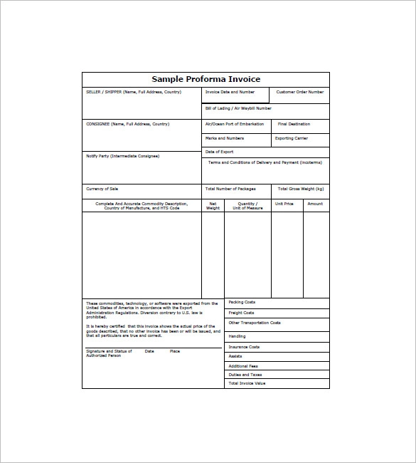 Performa Invoice Templates 17 Free Xlsx Doc Pdf Samples Invoice Template Word Invoice Template Invoice Format In Excel