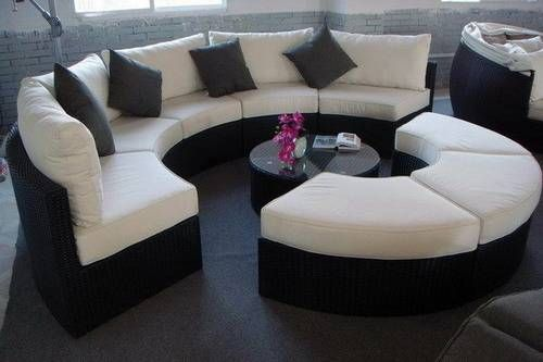 Glamorize Your Living Spaces With Adding Round Sectional Sofas