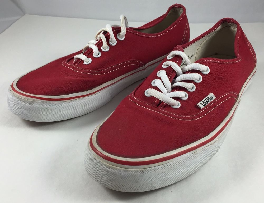 ef00c4923f Vans Shoes Classics Authentic Mens Sz 9 Red Lace Up Off The Wall Originals   Vans  CasualSkateboardingFashion