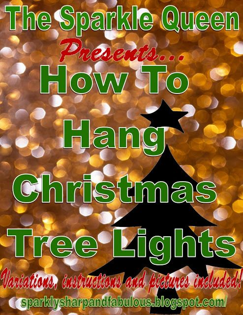 The Sparkle Queen: The Art of Lighting a Christmas Tree: Vertical vs. Horizontal