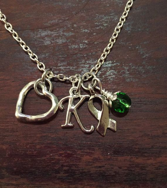 Heart Cluster Lyme Disease Necklace by FightingTogether on Etsy