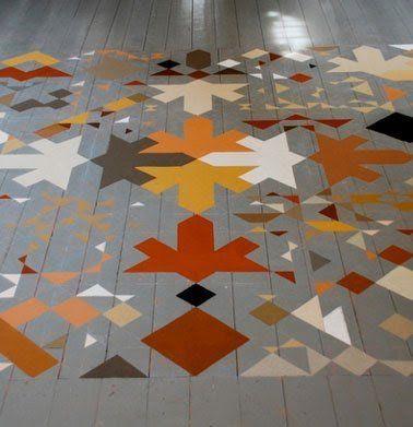 10 Idées originales pour peindre un parquet - peindre le carrelage sol