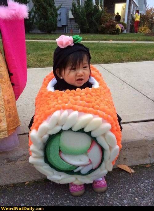 sushi baby kostm selber machen idee lustig fasching halloween. Black Bedroom Furniture Sets. Home Design Ideas