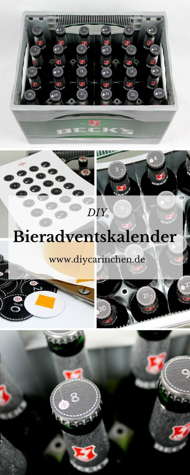 diy bieradventskalender mit gratis printable besondere geschenke f r m nner alle diys von. Black Bedroom Furniture Sets. Home Design Ideas