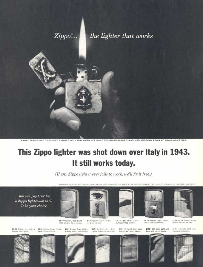 Vintage Zippo Advertisement From 1964 Zippo Lighter Zippo Print Ads