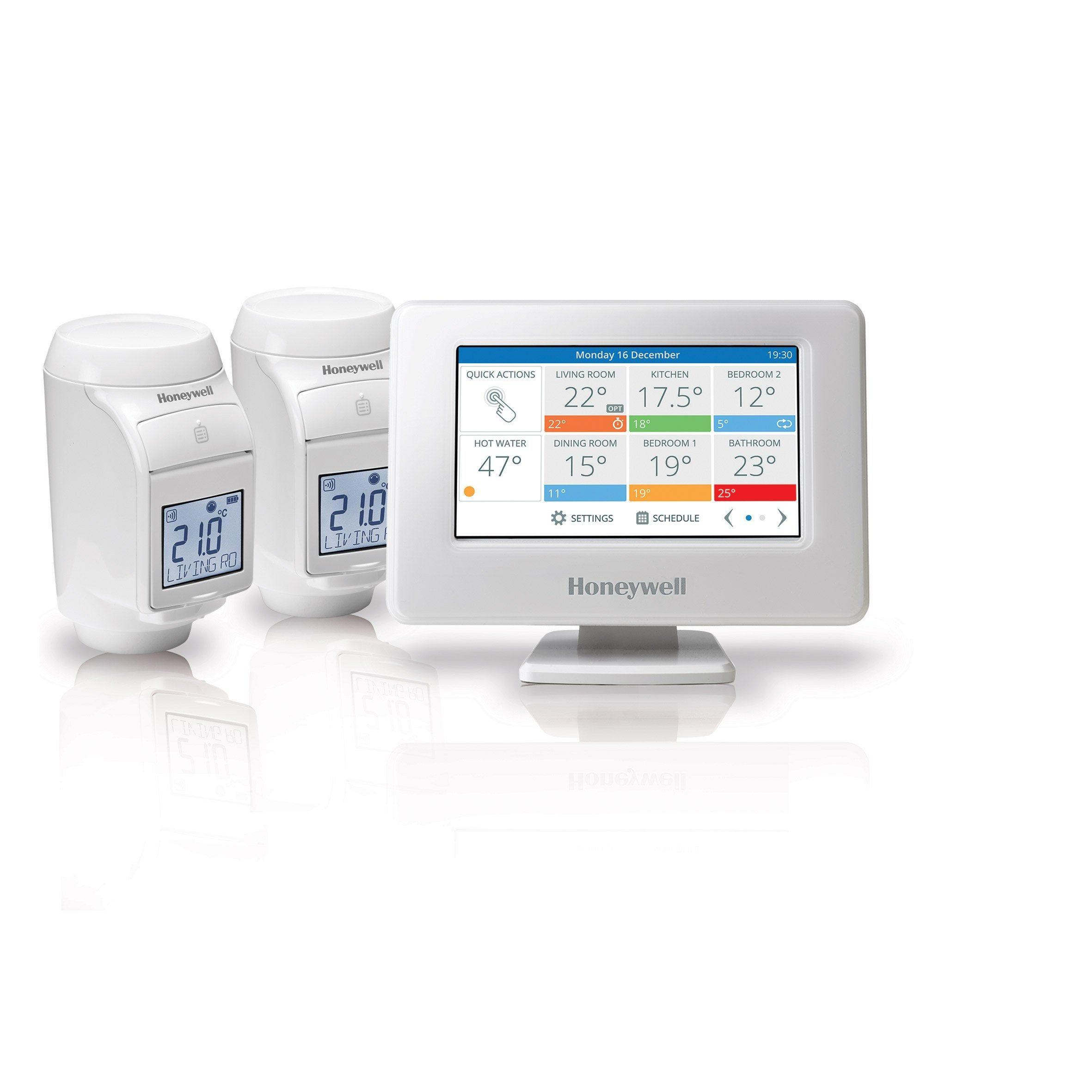 Thermostat Connecte Et Intelligent Sans Fil Honeywell Evohome En 2020 Type De Chauffage Radiateur Eau Pompe A Chaleur
