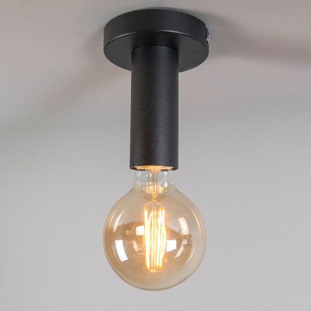 Qazqa Facil Plafondlamp - Zwart - afbeelding 3   verlichting ...