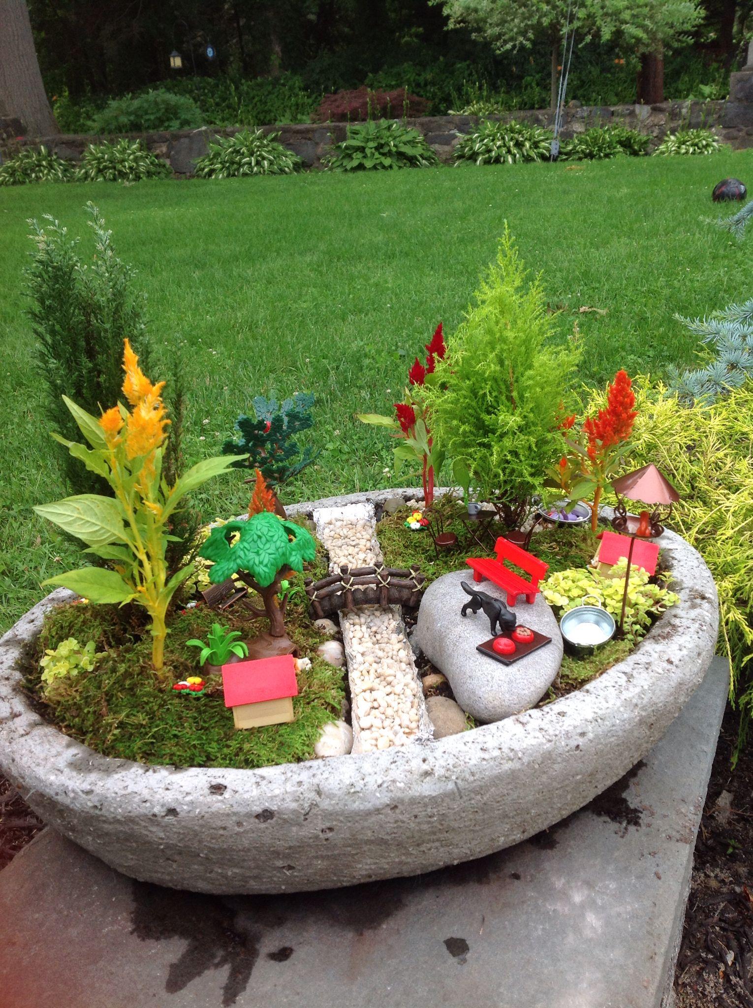 Fairy garden for boys! Dog park theme :) | Kids | Pinterest | Boy ...