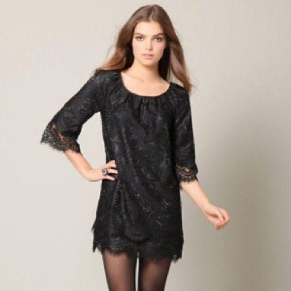 Anthropologie leifsdottir black dress