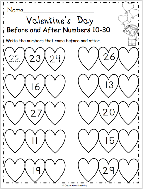 free valentine s day math worksheet for preschool and kindergarten students write the numbers. Black Bedroom Furniture Sets. Home Design Ideas