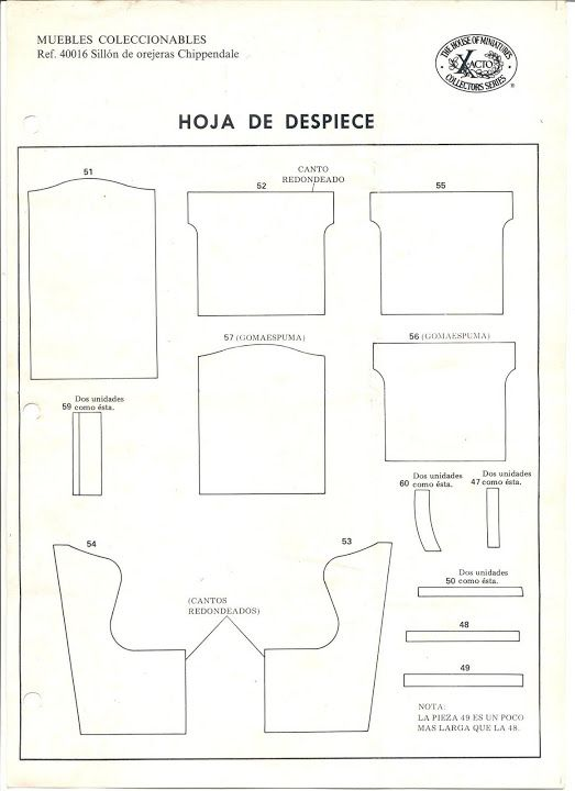 free dollhouse furniture patterns. Free Furniture Pattern By Maria Jesús, Picasa Web Dollhouse Patterns P