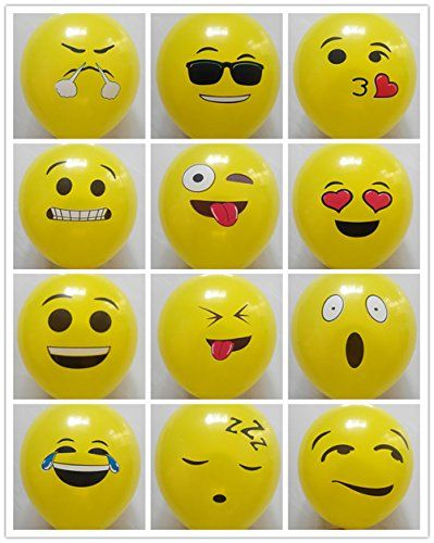 emoji universe series one emoji smiley face latex balloons 50 pack