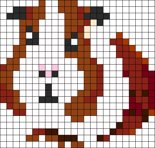 i m in with this guinea pig perler bead pattern