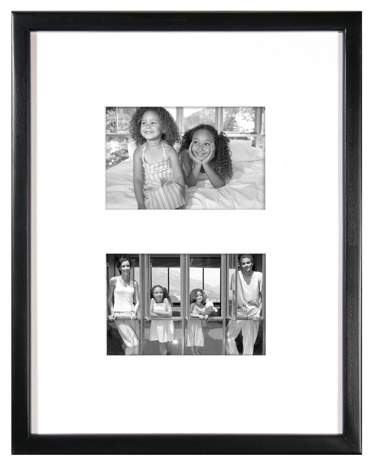 13 29 Amazon Com Mcs East Village Collage 11 By 14 Inch Frame With 2 4 Inch By 6 Inch Openings Black Home Collage Frames East Village Picture Frame Gallery