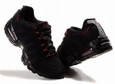 Nike Air Max 95 Women S Running Shoe Black Red Sale 50 Off 51 99