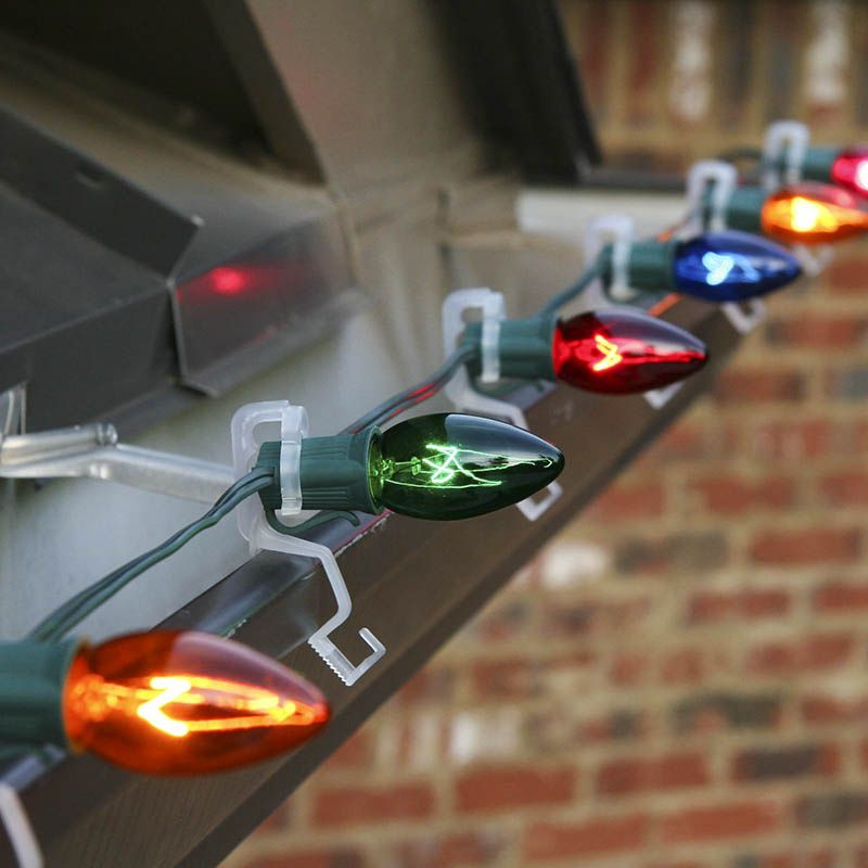 How to hang christmas lights on gutters christmas light for Creative ways to hang christmas lights indoors